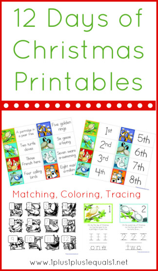 12 days of christmas printables 1111 - What Are The Twelve Days Of Christmas