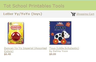 Tot School Printables Toys and Books Letter Y