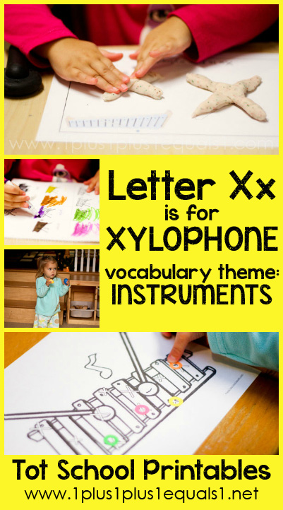 Tot School Printables X is for Xylophone