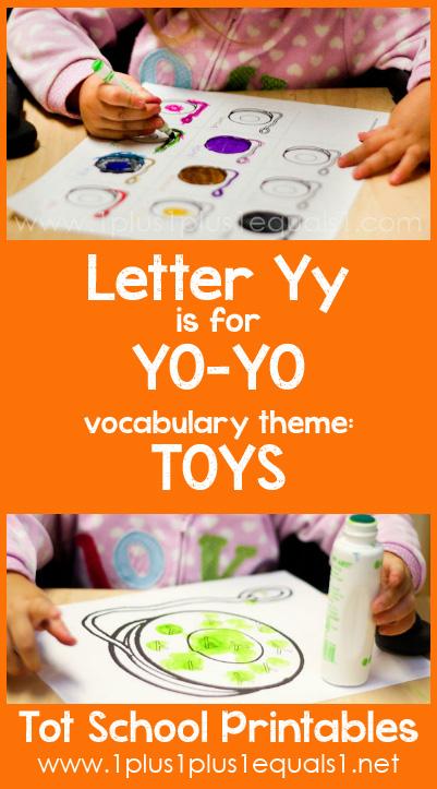 Tot School Printables Y is for Yo Yo