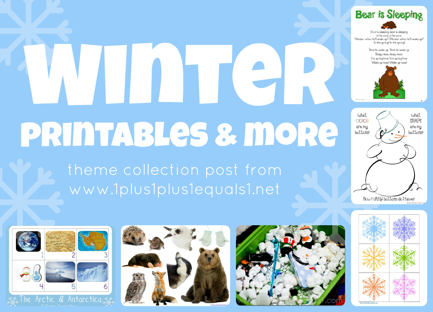 winter theme for preschoolers winter theme printables amp more 1 1 1 1 419