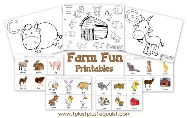 farm fun printables free 1111 - Fun Printables