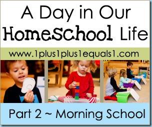 Homeschool Life Button Morning School