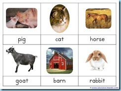 Montessori Nomenclature Farm Life2