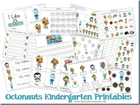 Octonauts Kindergarten Printables