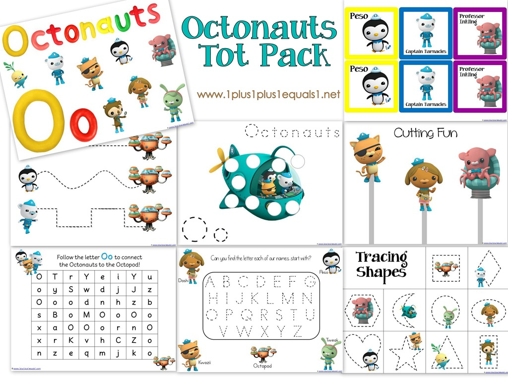 Octonauts Printables - 1+1+1=1