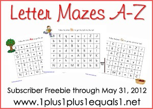Letter Mazes Bundle