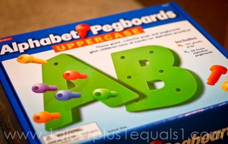 Alphabet Pegboards