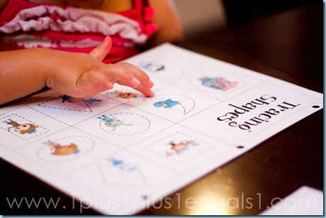 Octonauts Tracing Shapes
