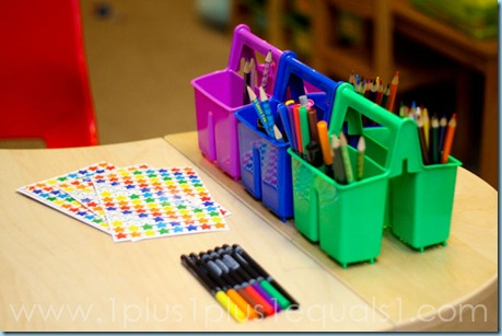Color Coded Homeschool Supplies