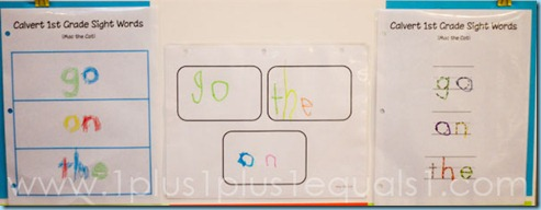 Calvert 1st Grade Sight Word Printables