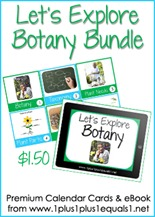 Let's Explore Botany Button