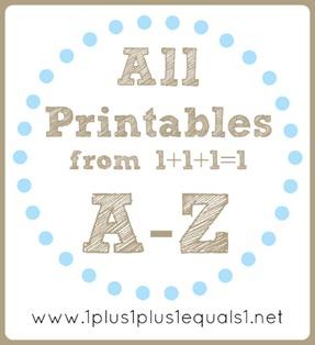 Alll Printables A to Z