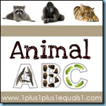 Animal ABC Button