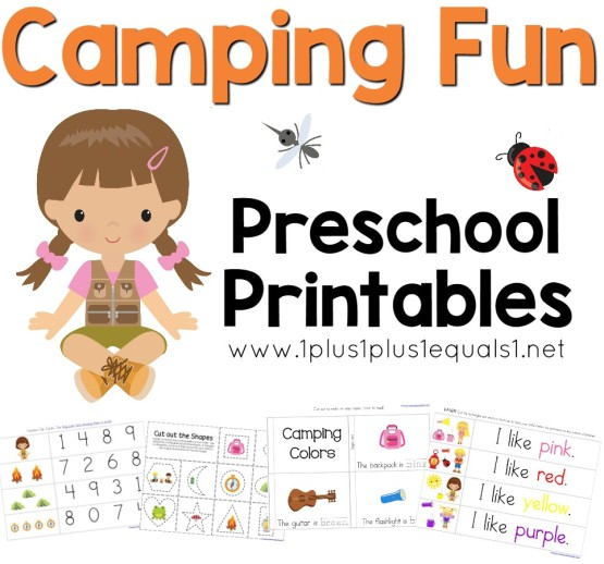 Camping Fun Preschool Pack