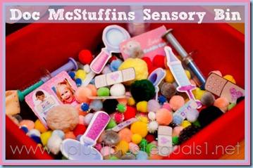 Doc McStuffins Sensory bin