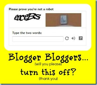 Word Verification on Blogger