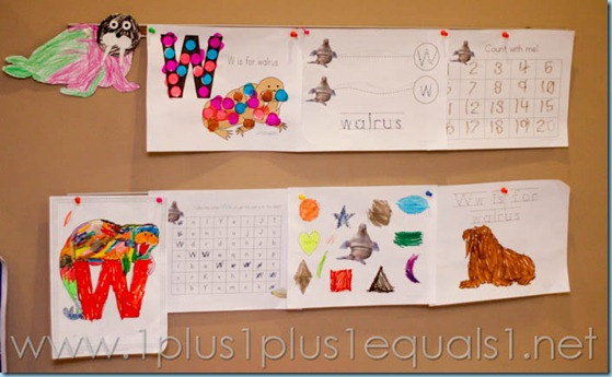 W is for Walrus Homeschool-2479