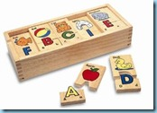 Wooden ABC puzzles