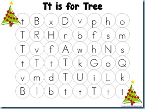 Christmas Letter Mazes tree