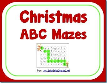 Christmas Letter Mazes
