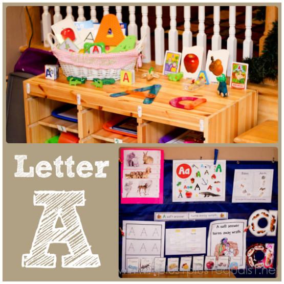 Home Preschool Letter A