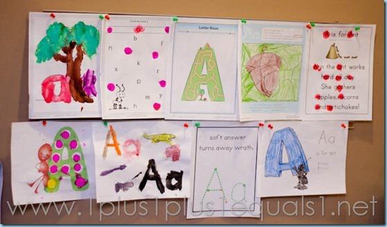 Home Preschool Letter A -8210