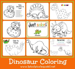 Just Color Dinosaurs
