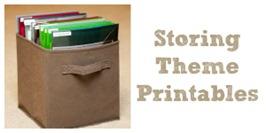 Storing Theme Printables