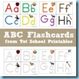 Tot School Printables ABC Flashcards