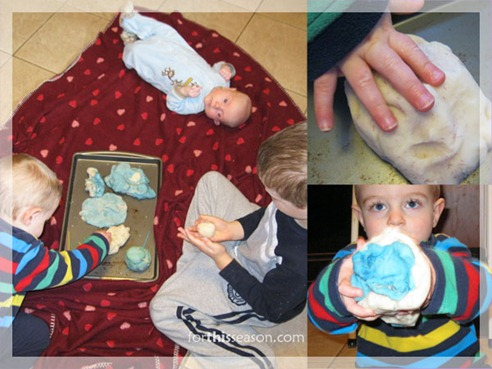 making-winter-theme-play-dough