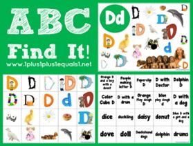 ABC Find It Letter Dd