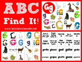 ABC Find It Letter Gg