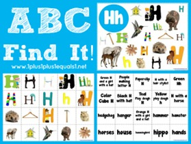 ABC Find It Letter Hh