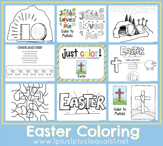 Just Color Easter on Printable Mini Coloring Book