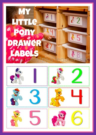 My Little Pony Drawer Labels