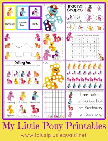 my little pony printable pack5