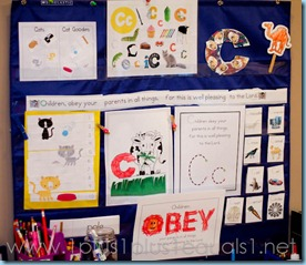 Home Preschool Letter Cc