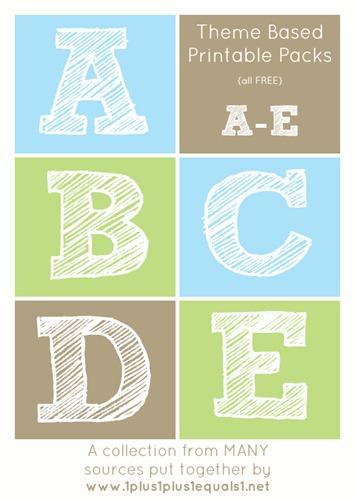 Theme Printables A through E