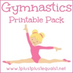 girls gymnastics printable pack