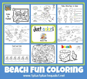 Beach Fun Coloring