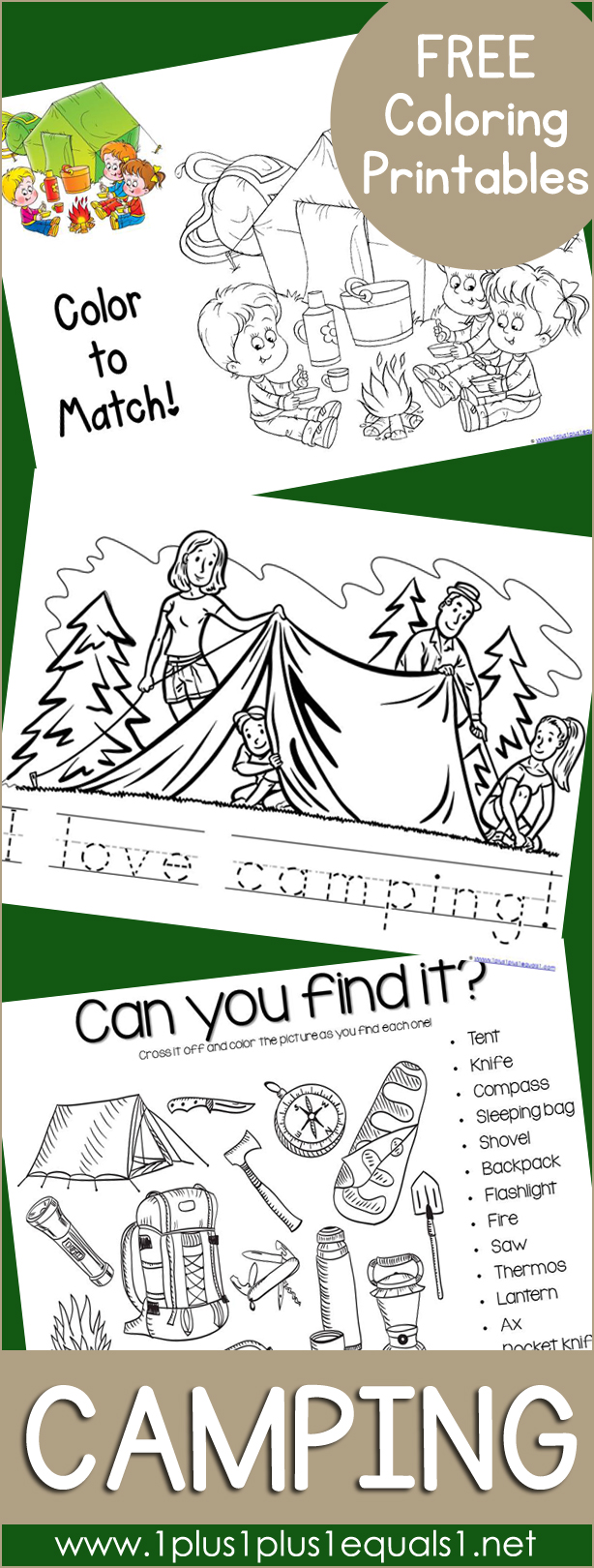camping coloring printables - Color Printables