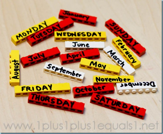 Days of the Week and Months of the Year with Legos -3252