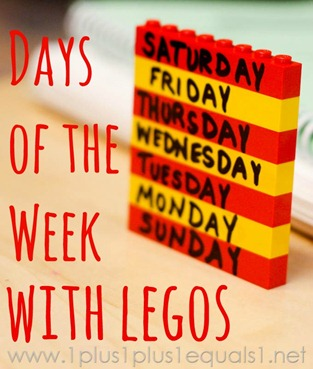 Days of the Week and Months of the Year with Legos -3262
