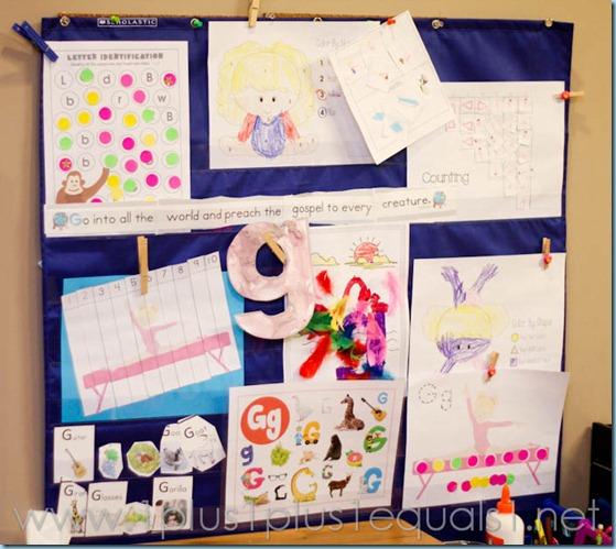 Home Preschool Letter Gg -2991