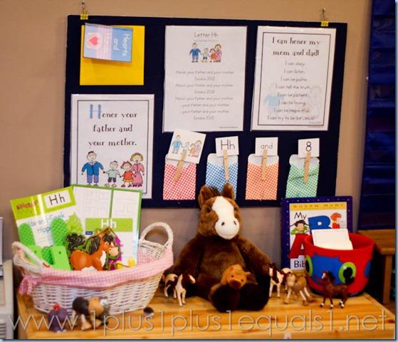 Home Preschool Letter Hh -3009