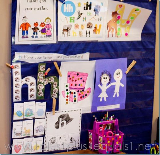 Home Preschool Letter Hh -3282