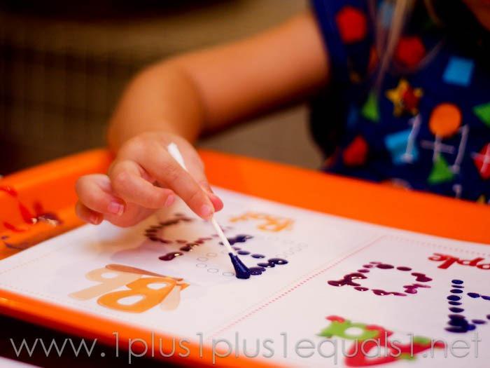 Q Tip Painting Alphabet Printables 1111