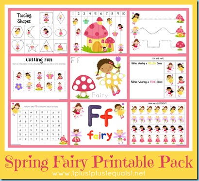 Spring Fairies Printable Pack