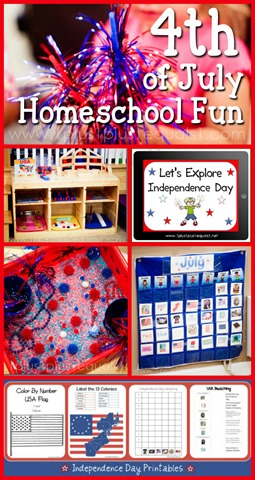 4th of July Homeschool Fun